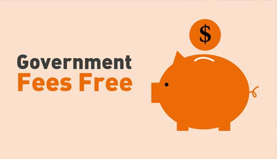 Government Fees Free